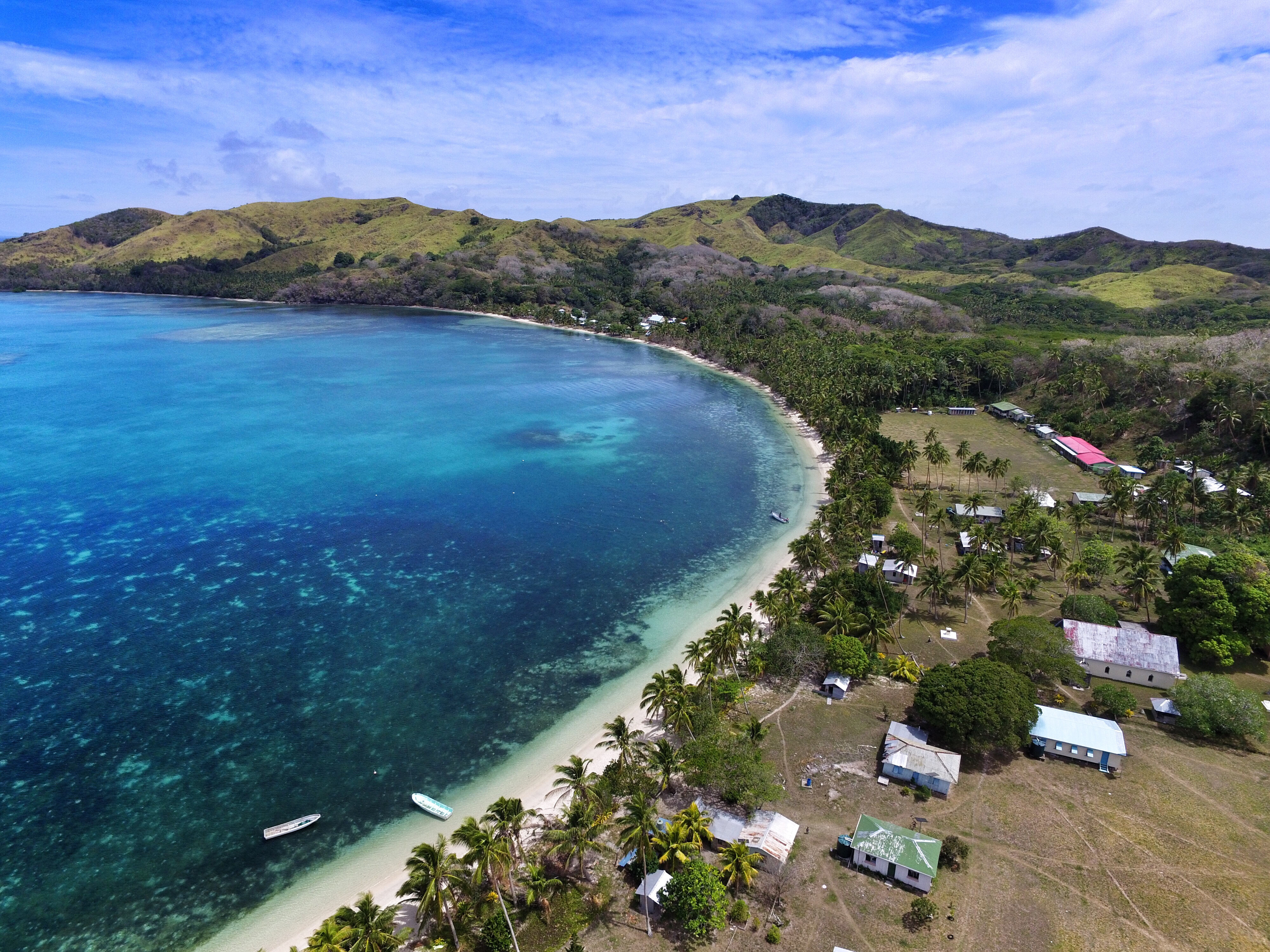 batiki island from above